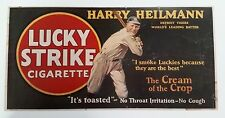"Harry Heilmann Lucky Stike Cigarette Trolley Piece (Reproduction) 11"" x 22"""