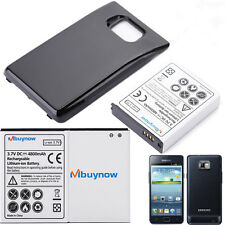 4800mAh Extended Battery + Black Back Cover For Samsung Galaxy S 2 II GT-I9100