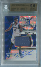 Karl-Anthony Towns 2015-16 Panini Spectra Jersey Auto RC! BGS 9.5! ROY!