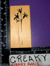 WILDFLOWER STEM LONG FLOWER RUBBER STAMPS ART IMPRESSIONS H-2995