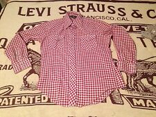 OXBLOOD WESTERN WEAR PEARL SNAP LONG SLEEVE SEARS SATURDAY SHIRT SIZE 15-15.5