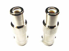 From OZ Quality 2PC RCA Female Socket To BNC Female TV Aerial RF Adaptor +FP!