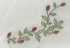 Rosebud Rose Strip Rhinestone Iron On Transfer Bling Hot Fix Motif #1068