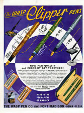 "1938 Wasp ""Clipper"" vintage fountain Pen ad -[-352"