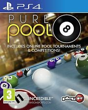PS4 Game Pure Pool Billiards 8-Ball und 9-Ball NEW