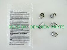 Genuine Toyota Camry Corolla Avalon Tacoma Sienna Chrome 4 Wheel Locks with Key