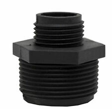 """Sump Pump Garden Hose Adapter ABS Plastic 1-1/4"""" MIP X Male to 3/4"""" MIP Male 005"""
