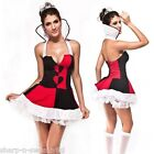 Ladies Sexy Queen of Hearts Alice in Wonderland Fancy Dress Costume Outfit