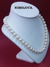 Collar Perlas Akoya Japonesas Cultivadas 8 - 8,5 - 9 - 9,5 y 11 mm. ORO BLANCO.