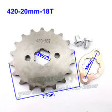 420 18 Tooth 20mm Front Engine Sprocket For Pit Dirt Bikes Stomp Thumpstar SDG