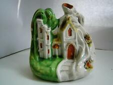Victorian Staffordshire pottery figure of a Gothic house C1880
