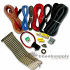 10 Gauge Amplfier Power Kit for Amp Install Wiring Complete RCA Cable Red 1200W