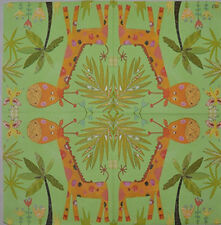 PAPER TABLE NAPKINS FOR CRAFT VINTAGE FUNNY GIRAFFE DECOUPAGE TEA PARTIES 287