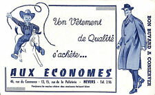 "NEVERS VETEMENTS "" AUX ECONOMES ""  BUVARD BLOTTING PAPER"