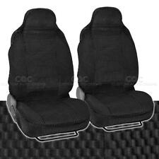 High Back Bucket Sear Covers Front Pair Black Scottsdale Premium Fabric