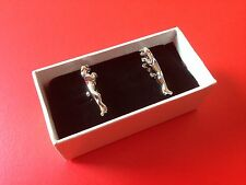 Brand New Jaguar Chrome Leaper Leaping Cat Cufflinks