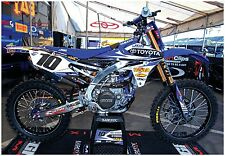 YAMAHA YZF450 SUPERCROSS RACE BIKE GIANT POSTER joe gibbs racing fmf fx graphics