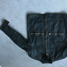 LEATHER JACKET BIKE HIDE ROCKERBILLY ROCKER PUNK BIKER QUALITY VINTAGE RETRO