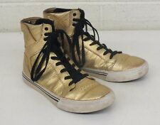 Supra Sky Top Gold Metallic High-Top Gold Sneakers US Kids 5 EU 37.5 GREAT LOOK