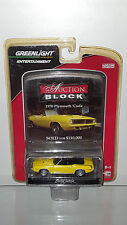 1/64 GREENLIGHT AUCTION BLOCK 1970 PLYMOUTH CUDA CONVERTIBLE YELLOW B19