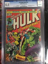 INCREDIBLE HULK #181 CGC 4.5, 1ST FULL APP WOLVERINE, 1974