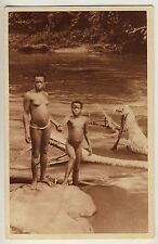Cameroon NUDE GIRLS AT THE RIVER Douala MÄDCHEN AM FLUSS * Vintage 20s Ethnic PC
