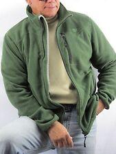 CAT Caterpillar Green Zippered Front Fleece Jacket  Men's L  NYZ15