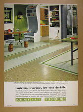 1968 Kentile Beaushard Asbestos Floor Tile rec room photo vintage print Ad