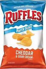 Ruffles Ridged Potato Chips, Cheddar and Sour Cream 9 oz