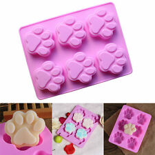 6 Cavity Silicone Cute Bear Cat Claw Mold Candy Chocolate Cookie Cupcake Mold