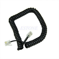 New Curly Extension Cord Home Telephone Handset Cable Coil Line Wire 6.5ft Black