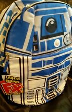 "Star Wars R2D2 Backpack Book Bag Lights Sounds 15""  NWT"
