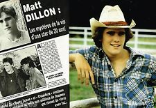 Coupure de Presse Clipping 1984 (4 pages) Matt Dillon