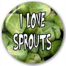 Small 25mm Lapel Pin Button Badge Novelty I Love Sprouts