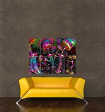 POSTER PRINT PAINTING DIGITAL PSYCHEDELIC TRIPPY MUSHROOM COLOURFUL FUN SEB564