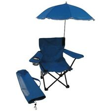Redmon Beach Baby Kids Camp Chair w/Carry Umbrella & matching tote bag-Blue NEW