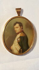 Napoleon Bonaparte vintage Victorian antique hand painted miniature on copper