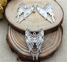 NEW Wholesale 4pcs Tibet silver Wing Crafts Charms Pendants Making Jewelry DIY