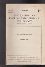 Journal of English & Germanic Philology January 1949 Cyril Tourneur on Revenge