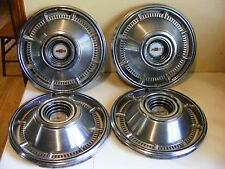 Vintage Set of 4 Original 1966 Chevy Impala Chevelle  Hubcaps 14""