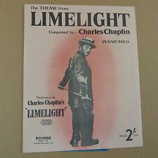 piano LIMELIGHT theme, charles chaplin 1953