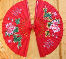 2 Tai Chi Eventail-éventail-Tai Ji Fan-abanico-Angebot-ventaglio-pivoine rouge