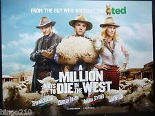 A MILLION WAYS TO DIE IN THE WEST QUAD POSTER SETH MACFARLANE FAMILY GUY