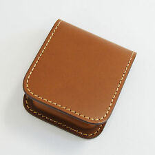 Pilot x SOMES SLCC-01-BN Brown Cowhide Leather Fountain Pen Ink Cartridge Case
