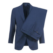 SARTORIO BY KITON F/W 16/17 Wool Mohair Suit 38Us / 48Eu R 3-Roll-2 Pleated Blue