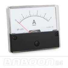Instrument de mesure 0 - 5 A DC à l'installation, installation instrument de mesure analogique ampèremètres