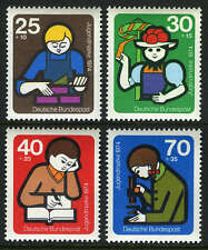Germany B508-B511,MI 800-803,MNH.Young Builder, Girl in National Costume, 1974