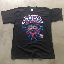 Vtg 90s NWOT Chicago Cubs L Salem Caricature Catcher T Shirt Wrigley Field MLB