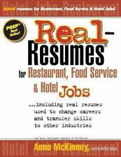 Real-Resumes for Restaurant, Food Service & Hotel Jobs-ExLibrary