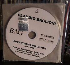 Claudio Baglioni – Buon Viaggio Della Vita Radio Edit Cd Single Promo  2007